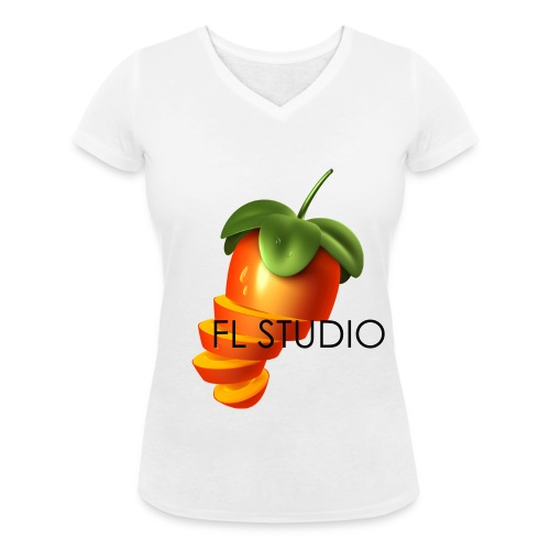 Sliced Sweaty Fruit - Women's Organic V-Neck T-Shirt by Stanley & Stella