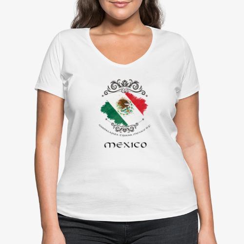 Mexico Vintage Bandera - Frauen Bio-T-Shirt mit V-Ausschnitt von Stanley & Stella