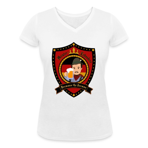 Hermann the German - Women's Organic V-Neck T-Shirt by Stanley & Stella