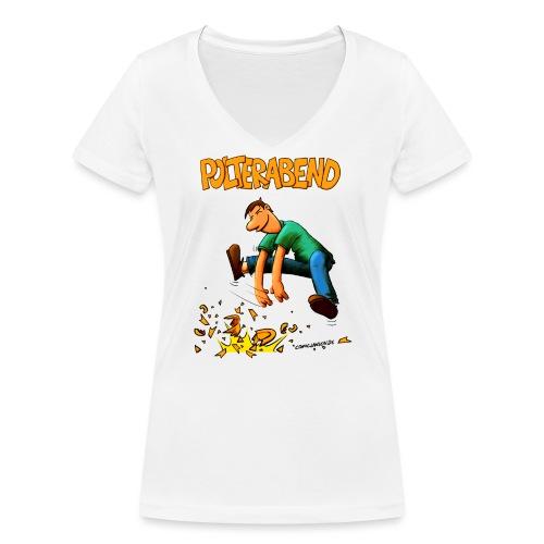 polter2019.png - Frauen Bio-T-Shirt mit V-Ausschnitt von Stanley & Stella