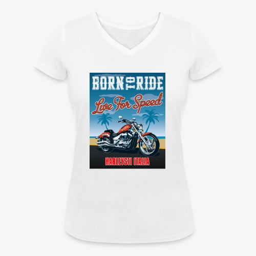 Summer 2021 - Born to ride - T-shirt ecologica da donna con scollo a V di Stanley & Stella