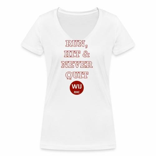 Run Hit never Quit - Vrouwen bio T-shirt met V-hals van Stanley & Stella