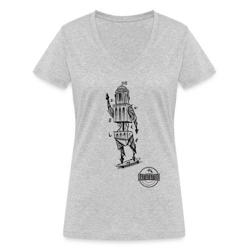 ZWOLLE 038 rattatattoo zwolle perperbus - Vrouwen bio T-shirt met V-hals van Stanley & Stella