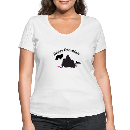 Happy Bright New - Frauen Bio-T-Shirt mit V-Ausschnitt von Stanley & Stella