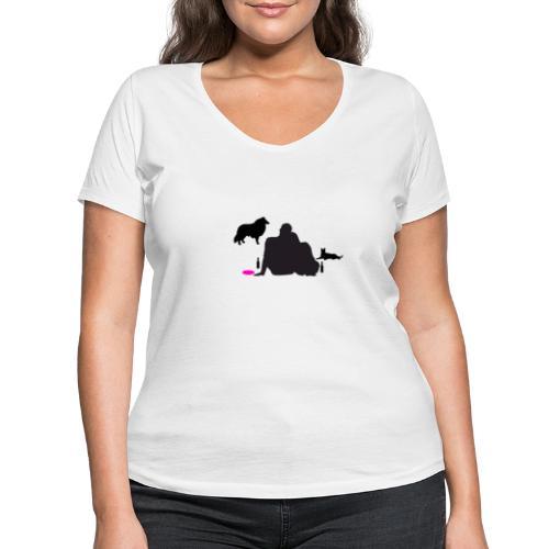 Bright New - Frauen Bio-T-Shirt mit V-Ausschnitt von Stanley & Stella