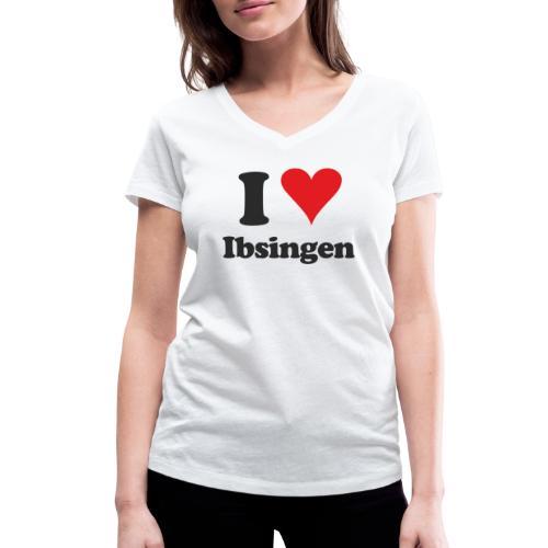 I Love Ibsingen - Frauen Bio-T-Shirt mit V-Ausschnitt von Stanley & Stella