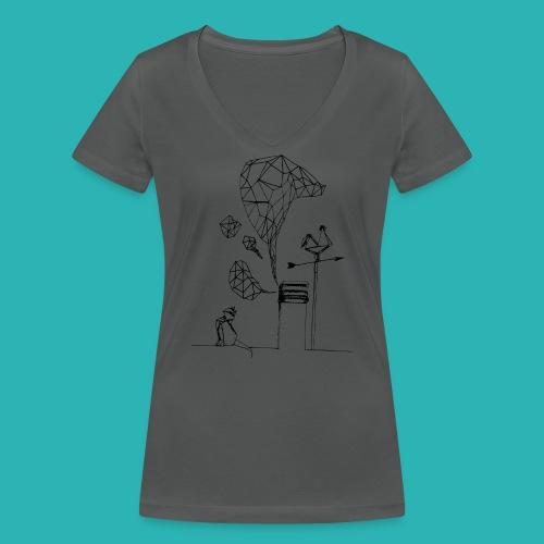 Carta_gatta-png - T-shirt ecologica da donna con scollo a V di Stanley & Stella