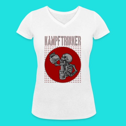 Kampftrinker - Frauen Bio-T-Shirt mit V-Ausschnitt von Stanley & Stella
