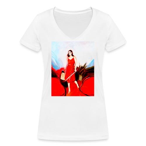 Swan Slayer - Frauen Bio-T-Shirt mit V-Ausschnitt von Stanley & Stella