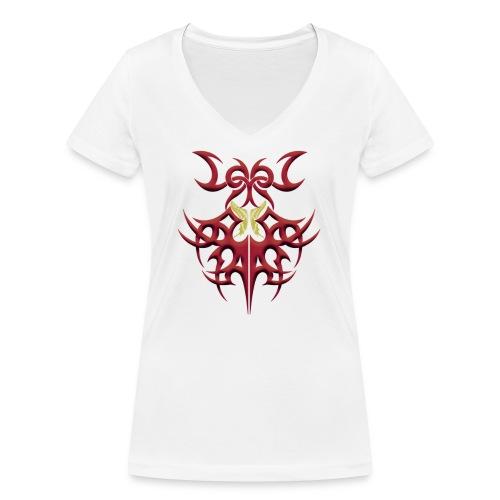 gelber Schmetterling - Frauen Bio-T-Shirt mit V-Ausschnitt von Stanley & Stella
