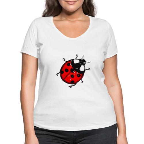 Marienkäfer - Frauen Bio-T-Shirt mit V-Ausschnitt von Stanley & Stella