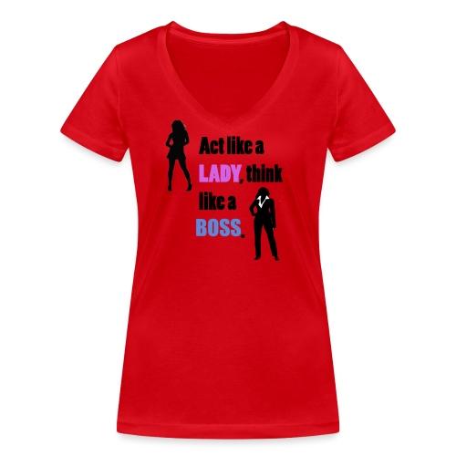 Women get success - Frauen Bio-T-Shirt mit V-Ausschnitt von Stanley & Stella
