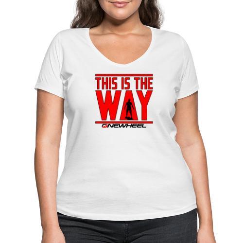This Is The Red Way - Økologisk Stanley & Stella T-shirt med V-udskæring til damer