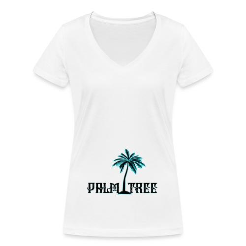 PALMTREE PALMERA STREETWEAR - Camiseta ecológica mujer con cuello de pico de Stanley & Stella
