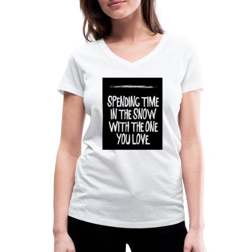 snow kokain | spending time in the snow - Frauen Bio-T-Shirt mit V-Ausschnitt von Stanley & Stella