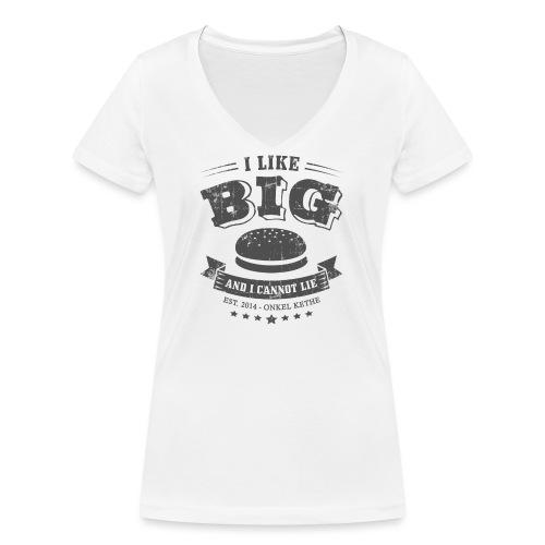 Kethe Buns - Grau - Frauen Bio-T-Shirt mit V-Ausschnitt von Stanley & Stella