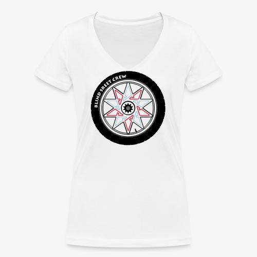 Blind Street Crew BMX - T-shirt ecologica da donna con scollo a V di Stanley & Stella
