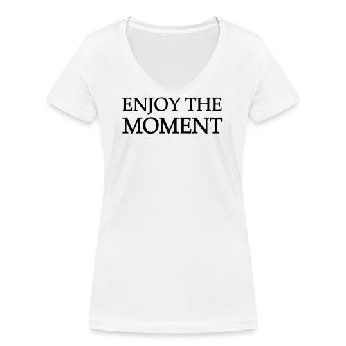enjoythemoment - Frauen Bio-T-Shirt mit V-Ausschnitt von Stanley & Stella