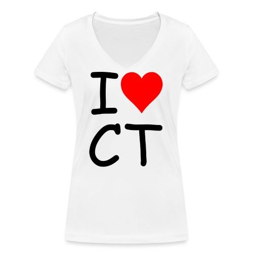 ILOVECT - Frauen Bio-T-Shirt mit V-Ausschnitt von Stanley & Stella