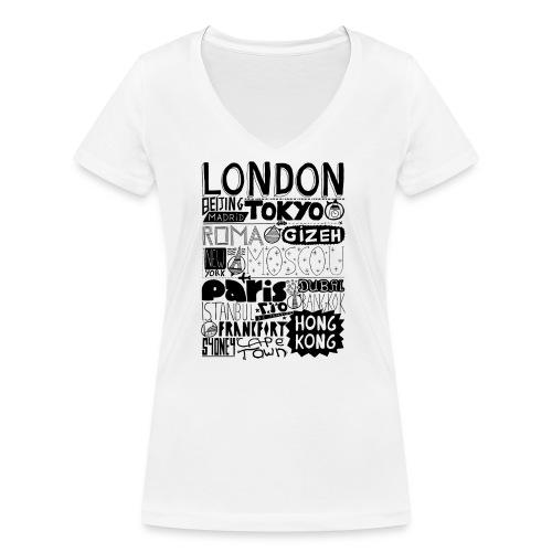 Villes du monde - T-shirt bio col V Stanley & Stella Femme