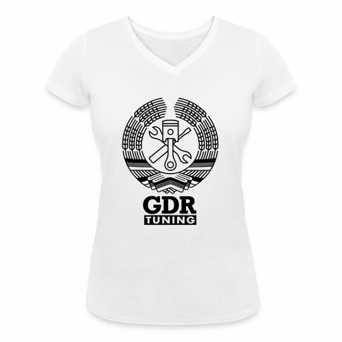 GDR Tuning Coat of Arms 1c - Women's Organic V-Neck T-Shirt by Stanley & Stella