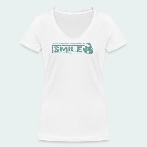 SMILE-Shirt 2018 - Frauen Bio-T-Shirt mit V-Ausschnitt von Stanley & Stella