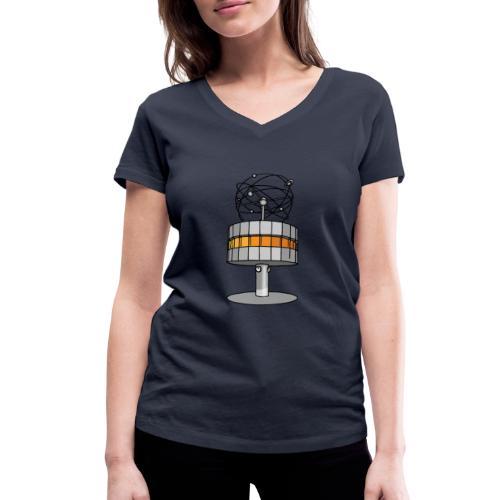 Weltzeituhr BERLIN c - Frauen Bio-T-Shirt mit V-Ausschnitt von Stanley & Stella