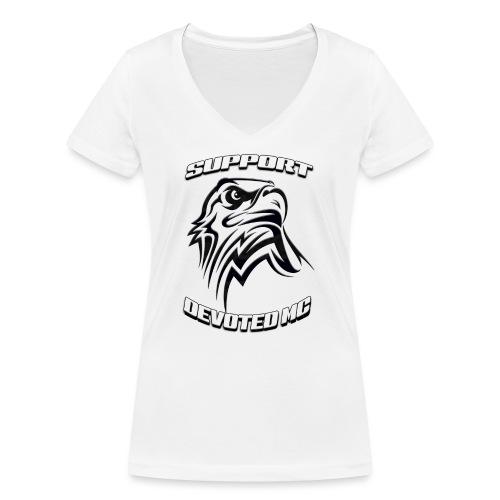 SUPPORT DEVOTEDMC E - Økologisk T-skjorte med V-hals for kvinner fra Stanley & Stella