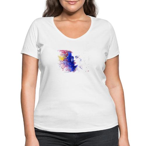 Visage design - T-shirt bio col V Stanley & Stella Femme