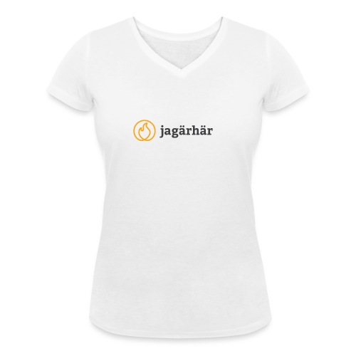 #jagärhär - Ekologisk T-shirt med V-ringning dam från Stanley & Stella