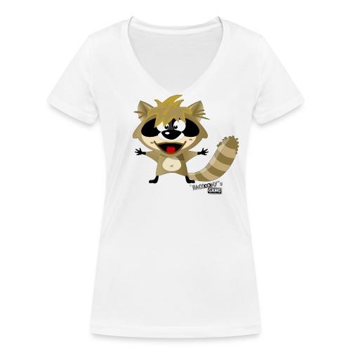 racconys gang sugar png - Frauen Bio-T-Shirt mit V-Ausschnitt von Stanley & Stella