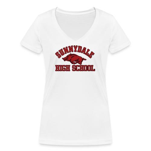Sunnydale High School logo merch - Vrouwen bio T-shirt met V-hals van Stanley & Stella