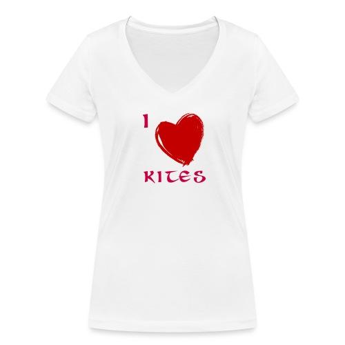 love kites - Women's Organic V-Neck T-Shirt by Stanley & Stella