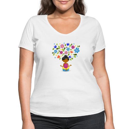 Meditation - Gedanken formen Deine Welt - Frauen Bio-T-Shirt mit V-Ausschnitt von Stanley & Stella