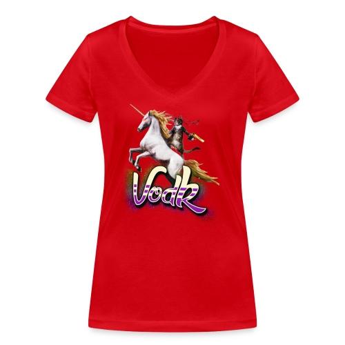 VodK licorne png - T-shirt bio col V Stanley & Stella Femme