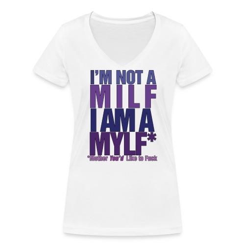 MYLF - Økologisk T-skjorte med V-hals for kvinner fra Stanley & Stella