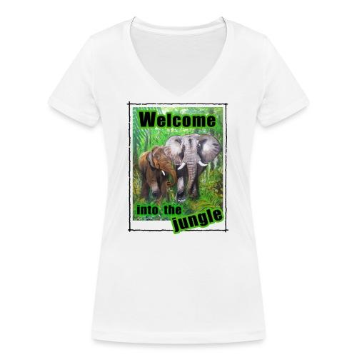 Willkommen im Dschungel - Frauen Bio-T-Shirt mit V-Ausschnitt von Stanley & Stella