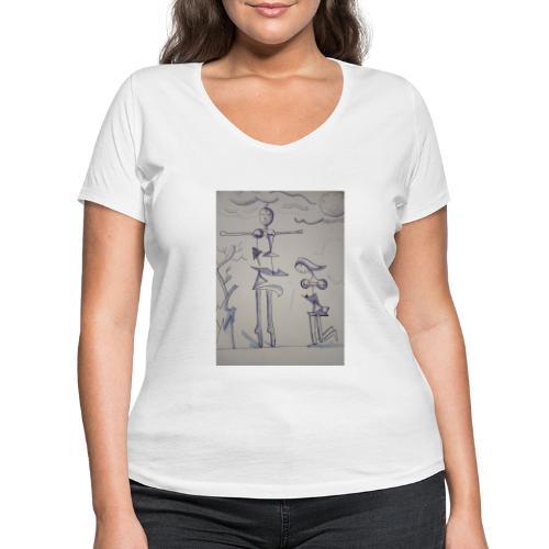 Preghiera - T-shirt ecologica da donna con scollo a V di Stanley & Stella
