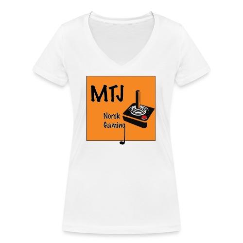 Mtj Logo - Økologisk T-skjorte med V-hals for kvinner fra Stanley & Stella