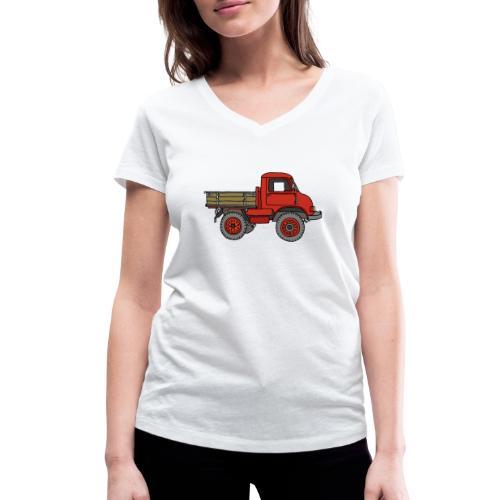 Roter Lastwagen, LKW, Laster - Frauen Bio-T-Shirt mit V-Ausschnitt von Stanley & Stella