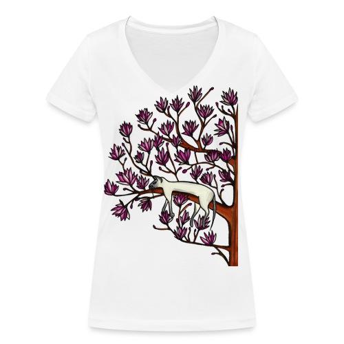 Magnolia - Ekologisk T-shirt med V-ringning dam från Stanley & Stella