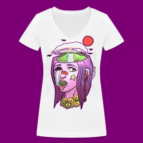 Pink Girl - Vrouwen bio T-shirt met V-hals van Stanley & Stella