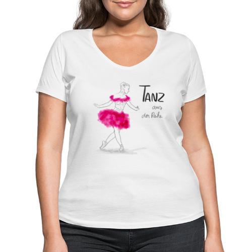 Ballerina mit rosa Tutu - Frauen Bio-T-Shirt mit V-Ausschnitt von Stanley & Stella