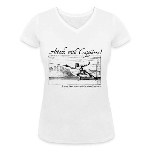 Attack with Capoferro! - Women's Organic V-Neck T-Shirt by Stanley & Stella