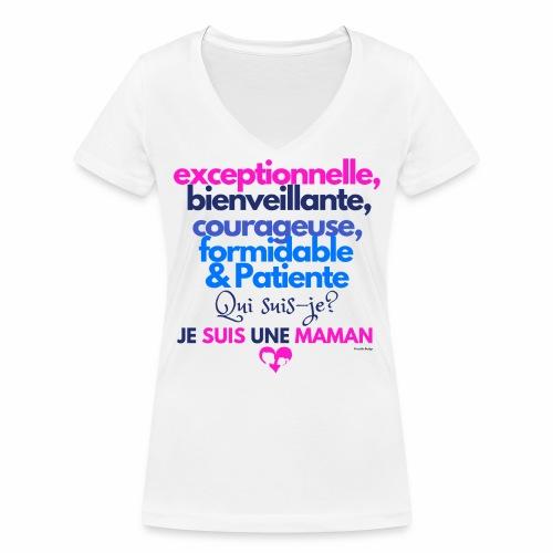 Je suis une maman - T-shirt bio col V Stanley & Stella Femme