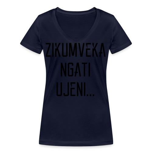 Zikumveka Ngati Black - Women's Organic V-Neck T-Shirt by Stanley & Stella