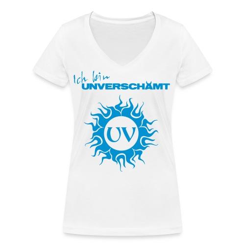 Ich bin UNVERSCHÄMT inkl Logo - Frauen Bio-T-Shirt mit V-Ausschnitt von Stanley & Stella