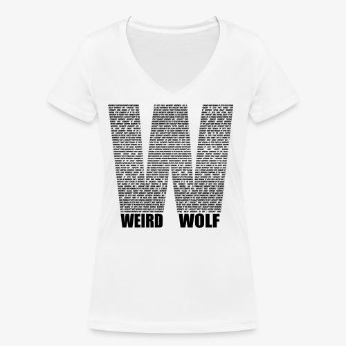 The Big W (Black) - Women's Organic V-Neck T-Shirt by Stanley & Stella