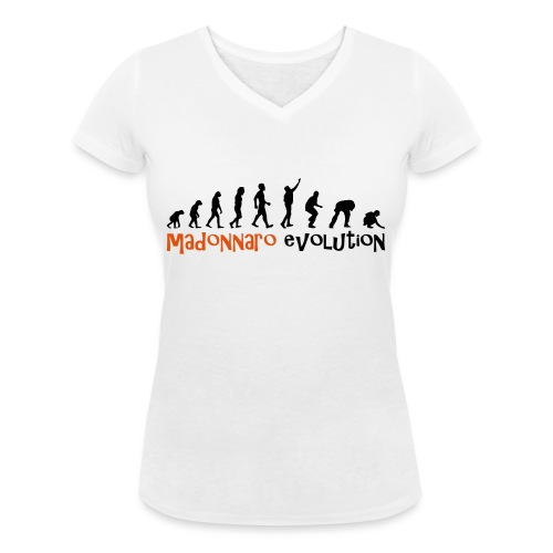 madonnaro evolution original - Women's Organic V-Neck T-Shirt by Stanley & Stella