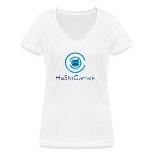 HasloGames Producten officieel logo - Vrouwen bio T-shirt met V-hals van Stanley & Stella